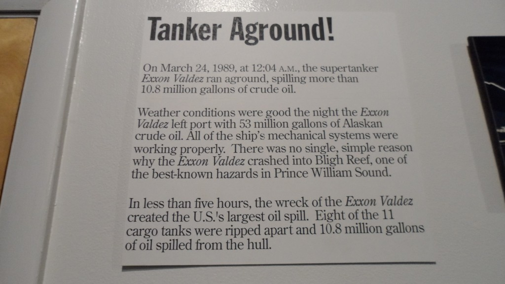 Pratt Museum : exhibit about the 1989 Exxon Oil Spill.