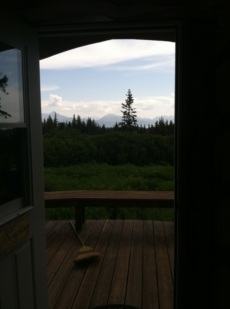 The view from one of the boy's yurts - Lynx.